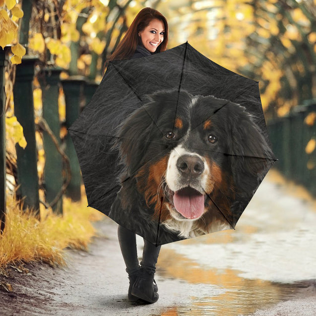 TD 6 Bernese Mountain Fur Texture Umbrella