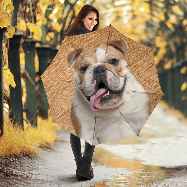TD 30 BullDog Fur Texture Umbrella