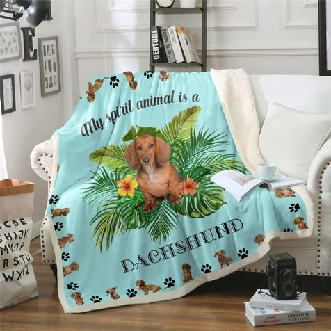 TD Dachshund My Spirit Animal Blanket