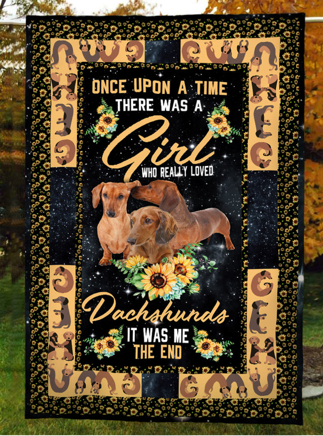 TD 32 A Girl Loved Dachshunds Blanket