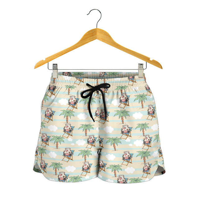 nh cow tree women's short
