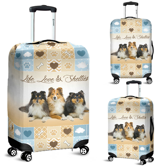 TD Life Love Shelties Lugguage Cover