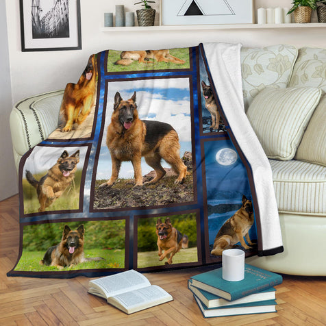 Dt H German shepherd blanket