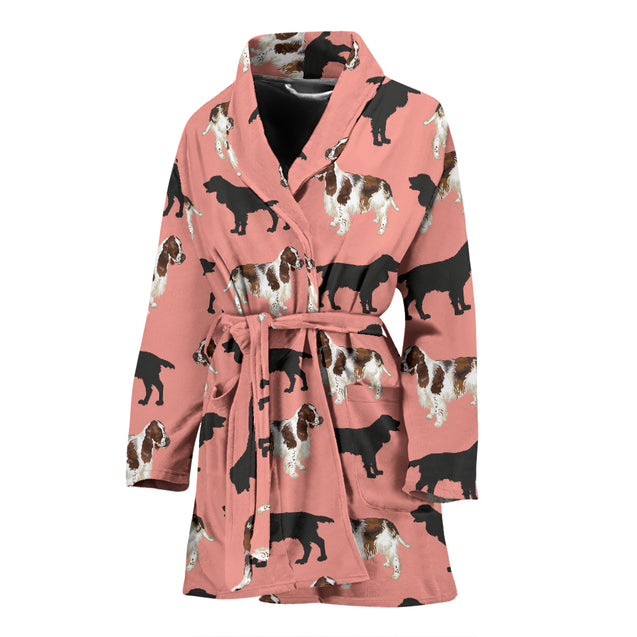 ln spinger spaniel chibi women's bath robe