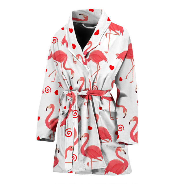 ln flamingo full women's bath robe