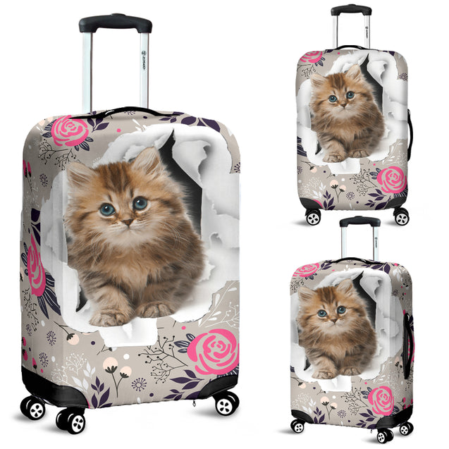 nh cat flower luggage cover