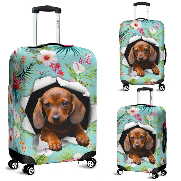 Nh 6 Dachshund Torn Lugage Cover