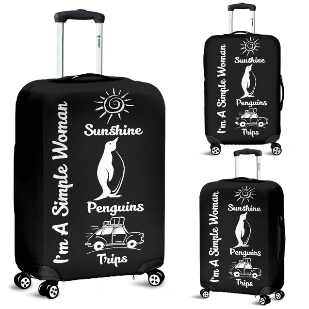 nh penguin simple women luggage cover