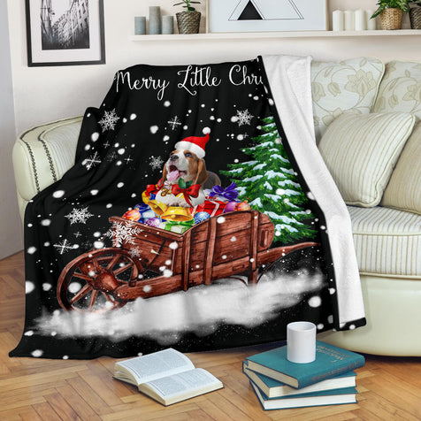 SHN 7 Have yourself a merry little Christmas Beagle dog Blanket