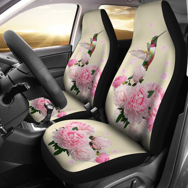 dt humming bird flower car seat cover