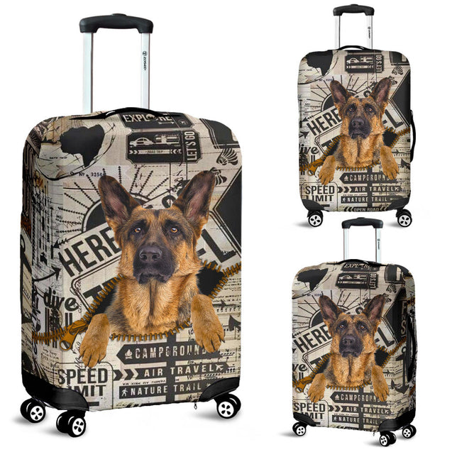 TD 5 German Shepherd Funny Lugguage Cover