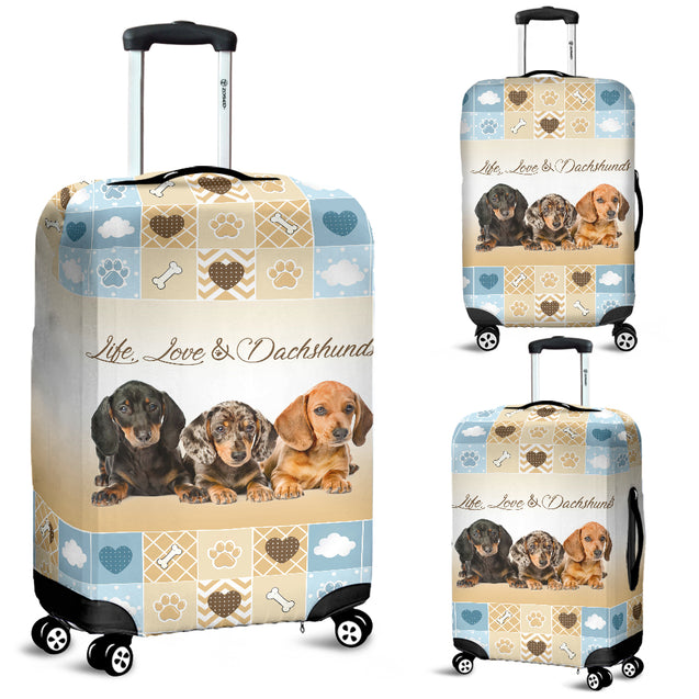 TD Life Love Dachshunds Lugguage Cover