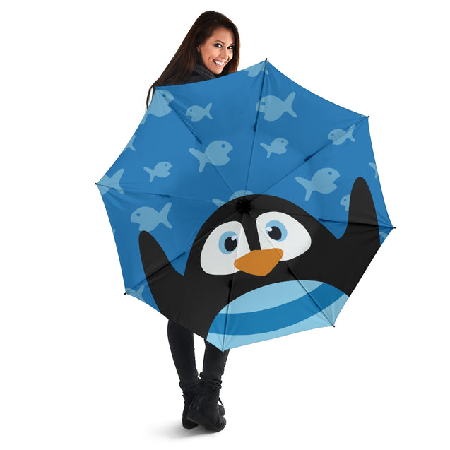 ln penguin fun face umbrella