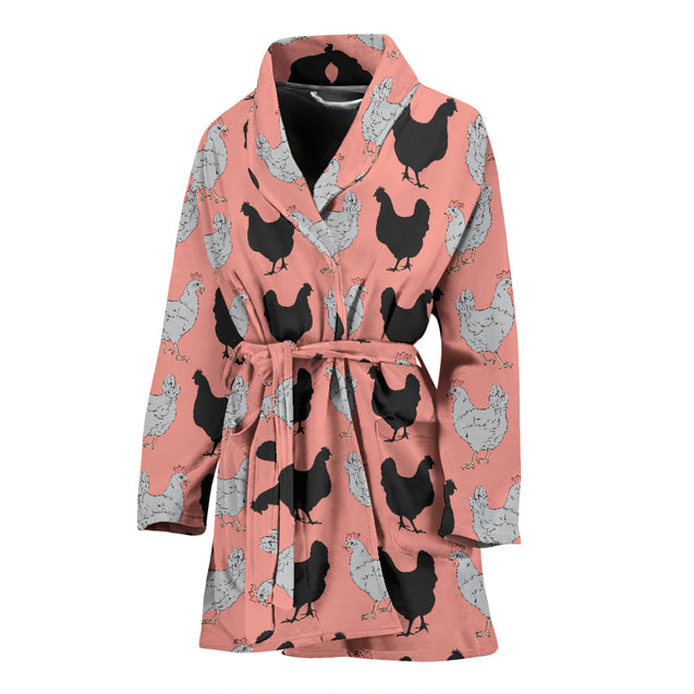 ln chicken chibi women's bath robe