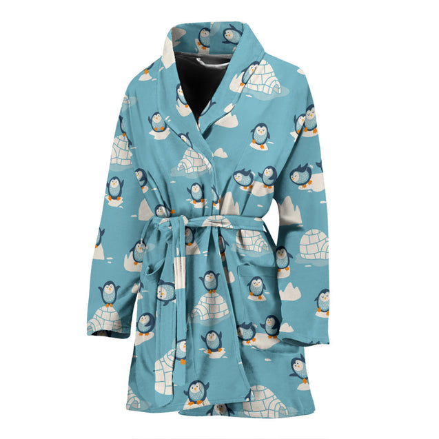 ln 1 penguin full women's bath robe 2