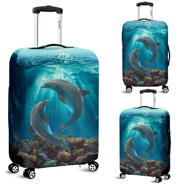 Ta Dolphin Ocean Luggage Cover