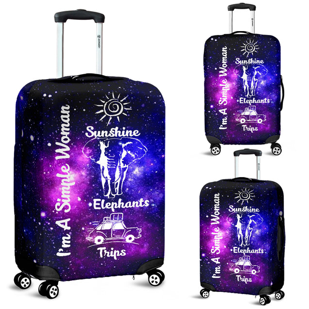 nh elephant simple woman luggage covers