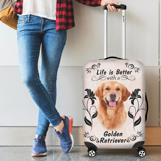 Ta Golden Retriever Better luggage cover