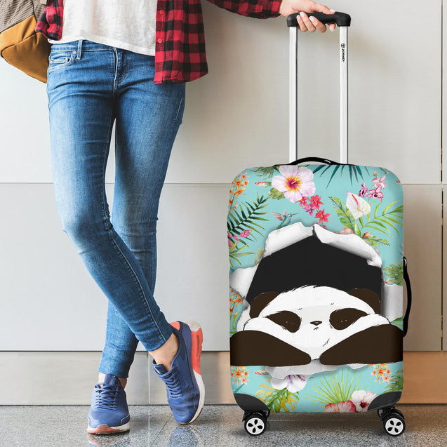 nh 6 panda flower luggage cover