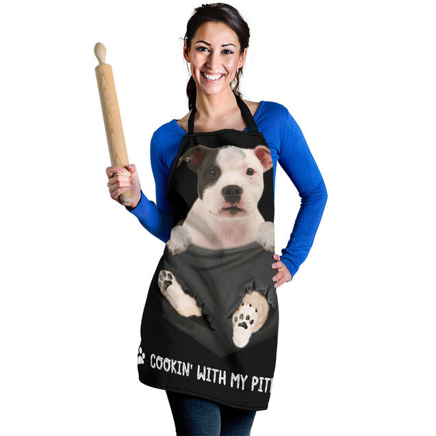TD Pitbull Cookin' With Me Apron
