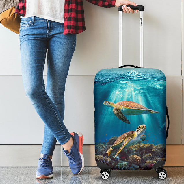 Ta 9 turtle ocean luggage cover