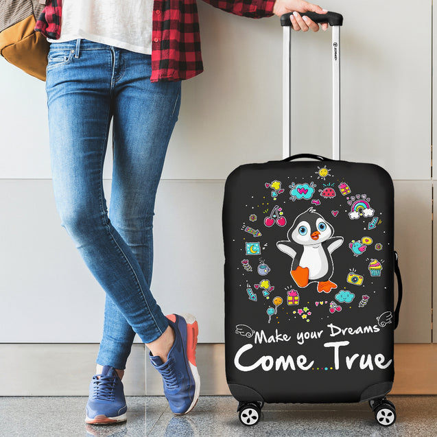 Td 2 Penguin Come True Luggage Covers