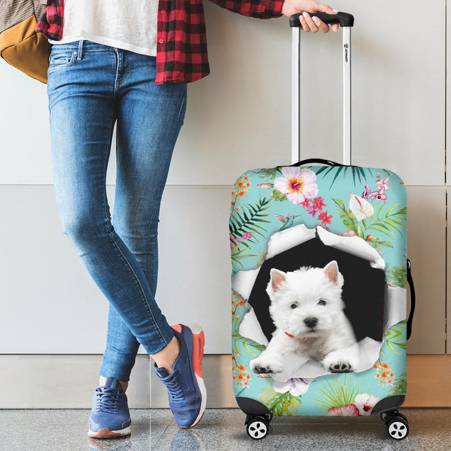 nh 6 westie torn luggage cover