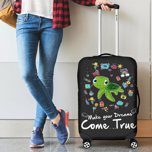 Td 2 Turtle Come True Luggage Covers