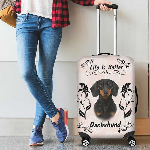 Ta Dachshund Better luggage cover