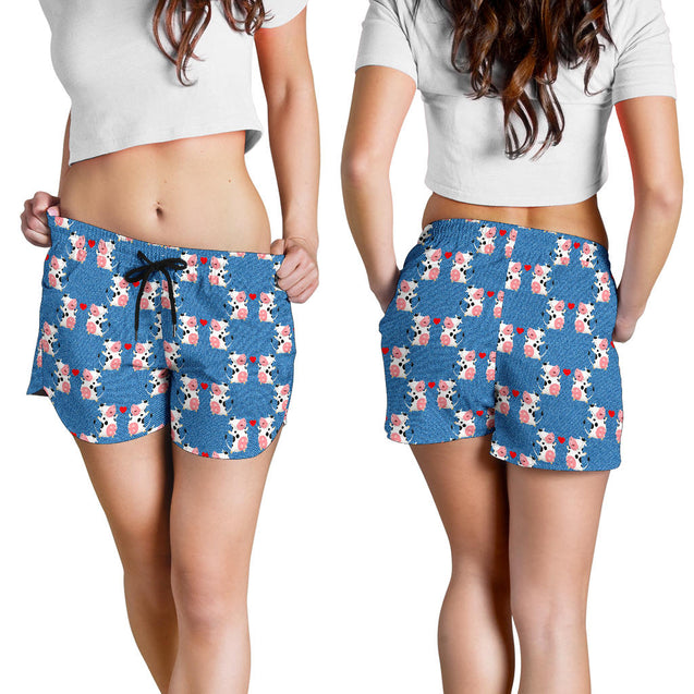 Ta 8 Cow love women's short