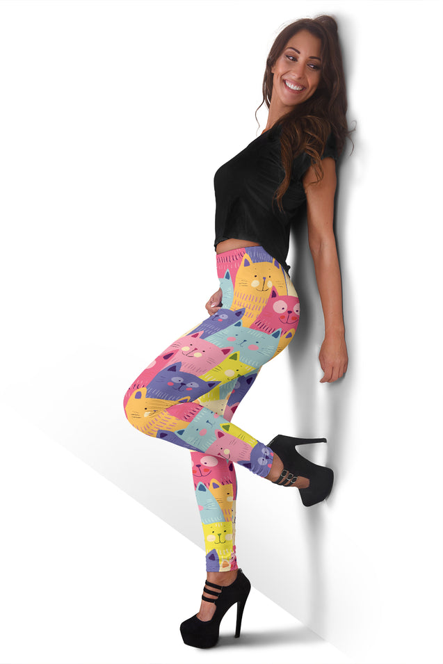 lg cat cartoon women's leggings