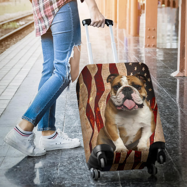 nh bulldog flag luggage cover