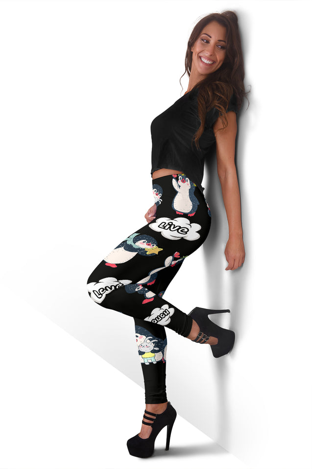 ln 1 penguin laugh women's leggings