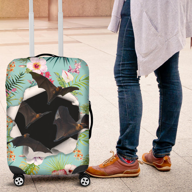 nh 6 bat flower luggage cover