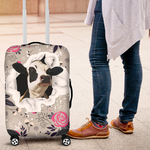 nh cow luggage cover