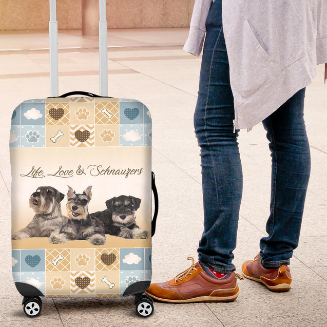 TD Life Love Schnauzers Lugguage Cover