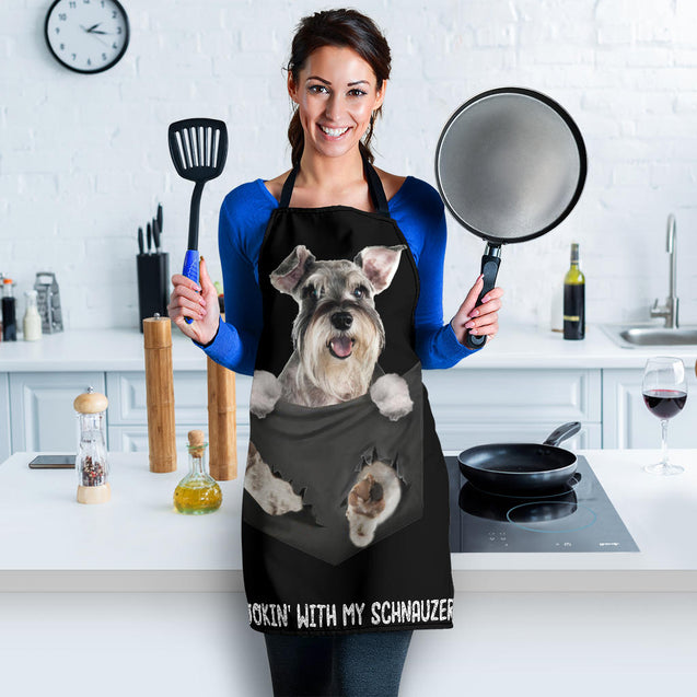 TD Schnauzer Cookin' With Me Apron