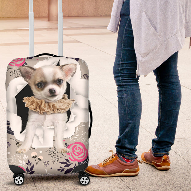 nh chihuahua flower luggage cover