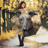 TD 6 Greyhound Fur Texture Umbrella