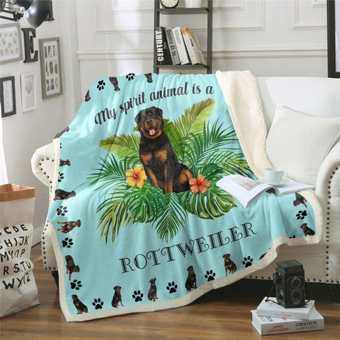 TD Rottweiler My Spirit Animal Blanket