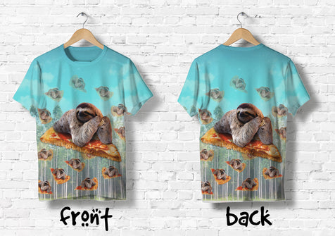 Ta Sloth Pizza 3D Tshirt 1