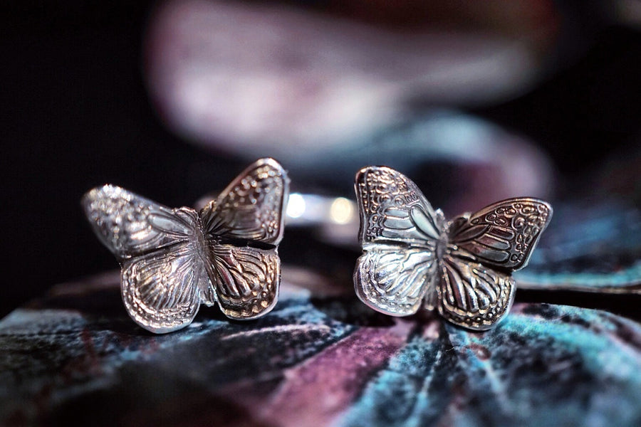 Butterfly Schmetterling Ring Double