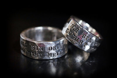 Ring mit Gravur - Goldring & Silberring - Quote Big - CAPULET Jewelry