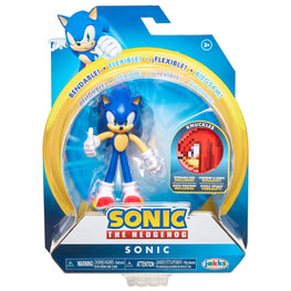 "Official Sonic the Hedgehog 4"" Bendable Action Figure with Knuckles"