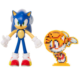 "Official Sonic the Hedgehog 4"" Bendable Action Figure with Tails"