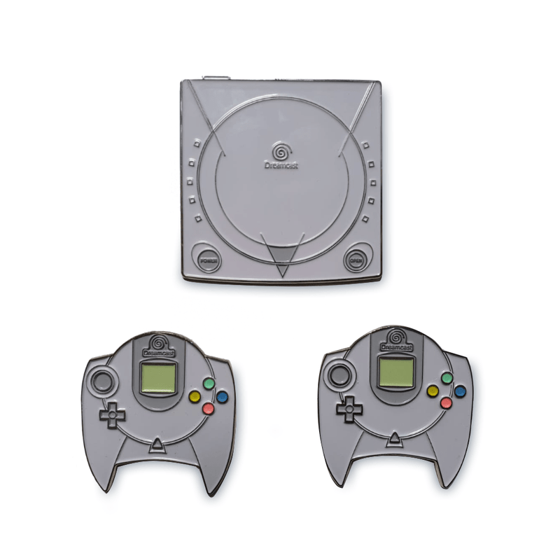 Official Dreamcast Collectible Pin Badge Set