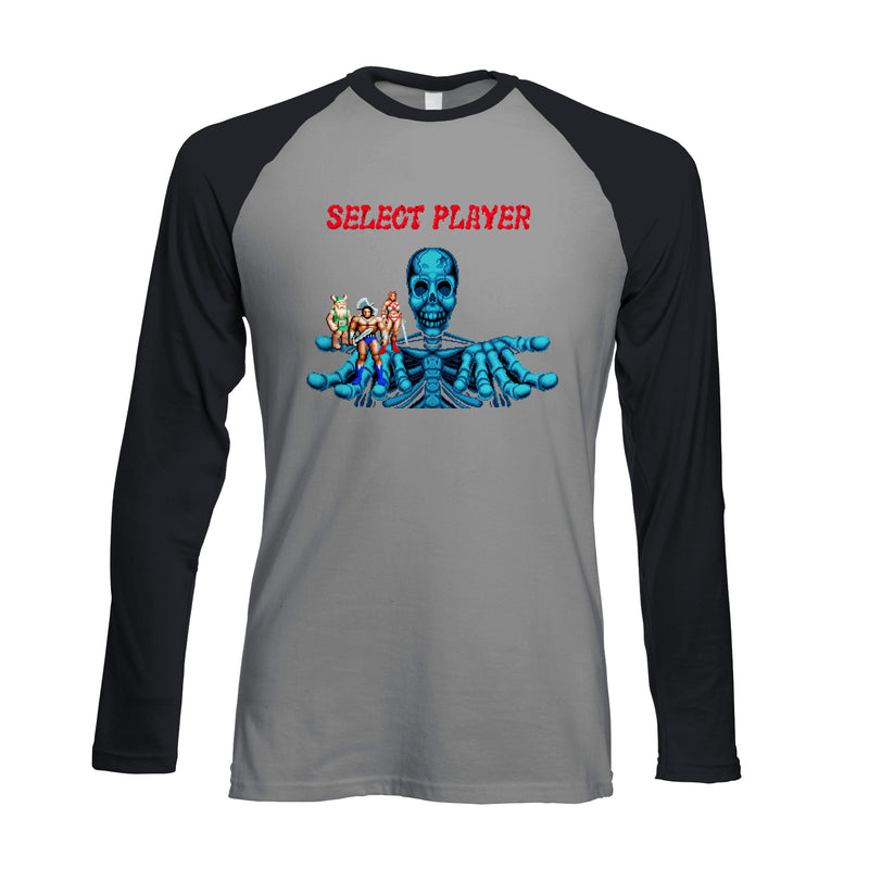 Official Golden Axe 'Player Select' Raglan