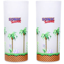 Classic Sonic and Dr. Eggman Glasses (set of 2)