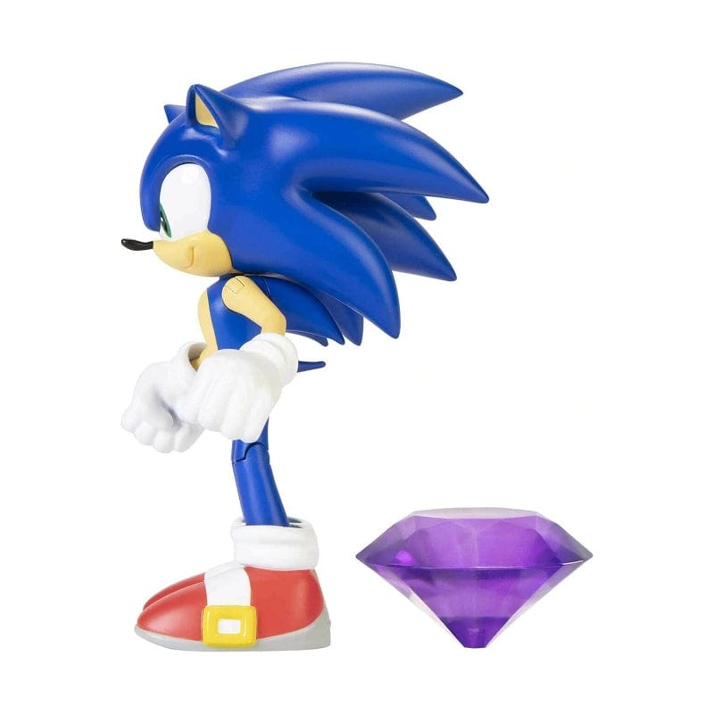 "Official Sonic The Hedgehog Wave 3 Modern Sonic with Chaos Emerald 10cm (4"") Figure"