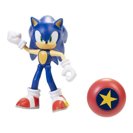 "Official Sonic The Hedgehog Wave 3 Modern Sonic with Star Spring 10cm (4"") Figure"